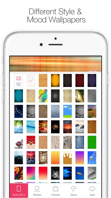Screenshot for Icon Skins Builder - Create Custom Home & Lock Screen Backgrounds and Wallpapers in Denmark App Store
