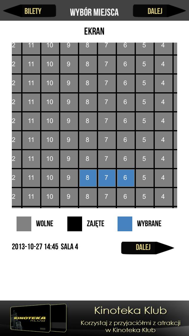 Kinoteka Bilety screenshot two
