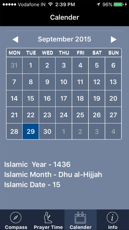 Qibla Compass Pro : Prayer time, Islamic Calendar