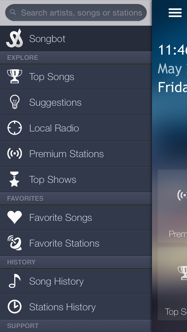 Songbot: On-Demand Talk Shows & Songs Screenshot