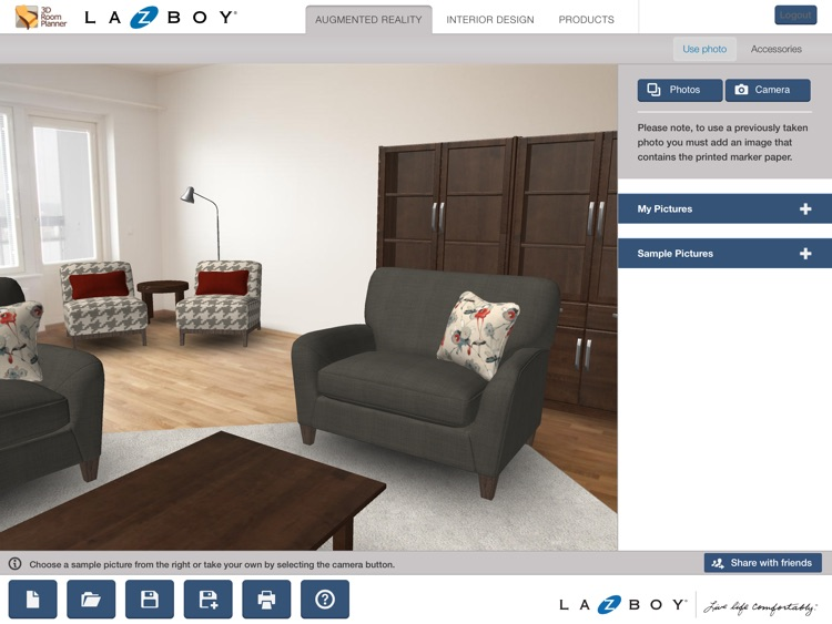 La-Z-Boy 3D Room Planner screenshot-2