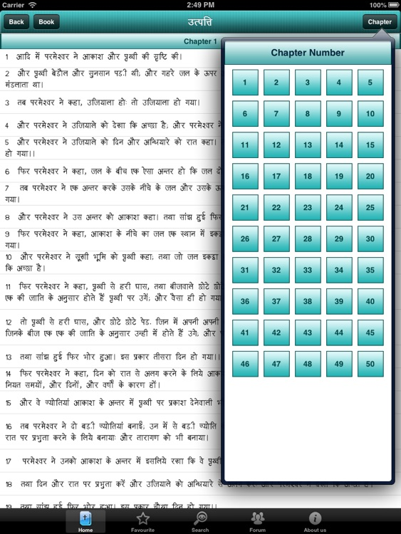 Hindi bible for iPad screenshot-2