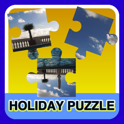 A beautiful holiday photo puzzle