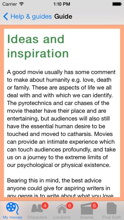 Movie Writing screenshot-4