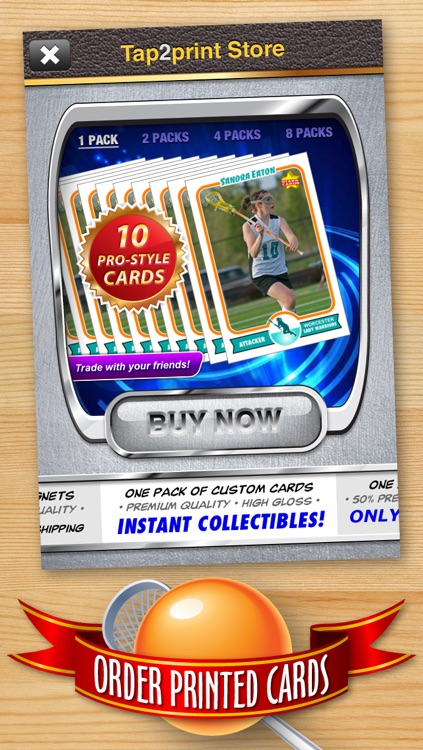 Lacrosse Card Maker - Make Your Own Custom Lacrosse Cards with Starr Cards screenshot-4