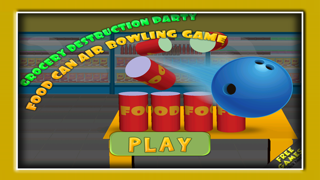 Grocery destruction party : food can air bowling game - Free