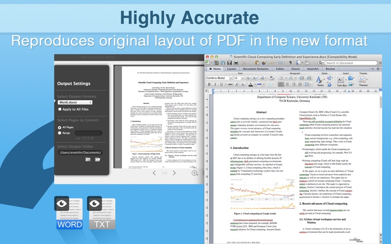 PDF to Word Pro Edition Screenshot