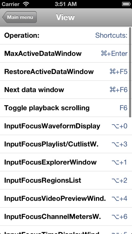 Shortcuts for Sony Sound Forge Pro screenshot-3