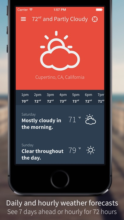 MoonWeather : Moon phase & weather forecasts screenshot-3