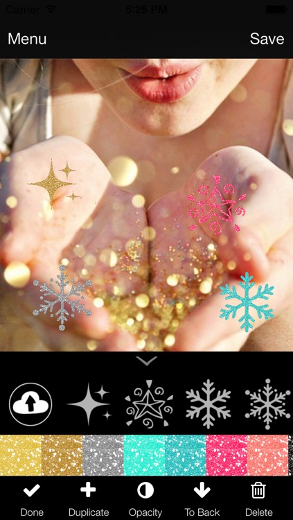 Glitter Overlays (Photo Editor for Beautiful DIY Overlay Crop Collage  Effect on Instagram) by Yellow Lab, Inc