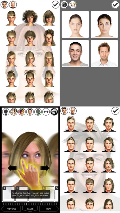 Hairstyle Magic Mirror Change your look Lite screenshot-1