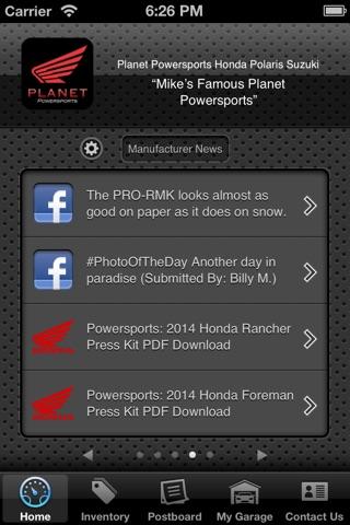 Screenshot of Planet Powersports Honda Polaris Suzuki