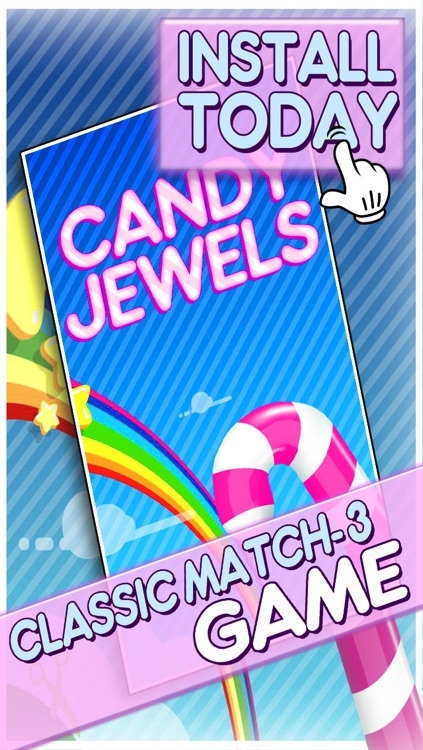 Candy Jewels Mania Puzzle Game - Fun Sugar Rush Match3 For Kids HD FREE screenshot-4