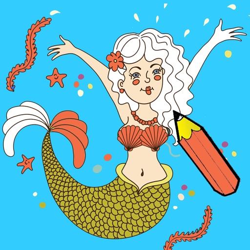 Libro para colorear la vida bajo el agua para niños: aprender a ...