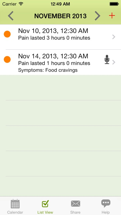 Ouch - Chronic Pain Log, Migraine Diary screenshot-3