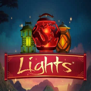 Lights - Casino Slots Machine by NetEnt with glowing colored lights and lamps