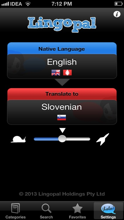 Lingopal Slovene LITE - talking phrasebook screenshot-0