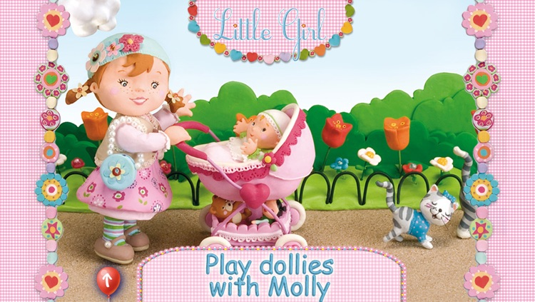 Molly is playing with her dolly - Little Girl