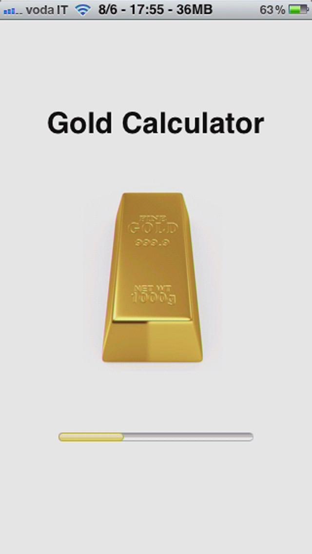 金の計算機の値のスクリーンショット1