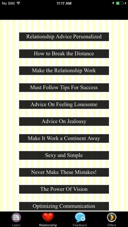 Long Distance Relationships Advice - Optimizing