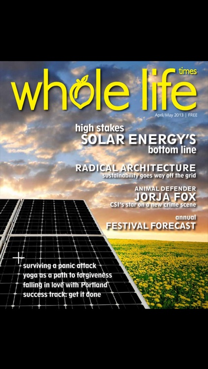 Whole Life Times magazine: tune in for health, yoga and sustainable lifestyle