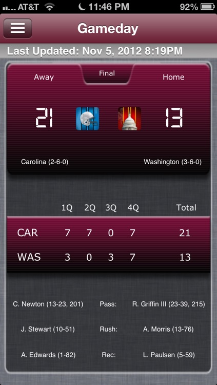 Washington Football Live screenshot-0