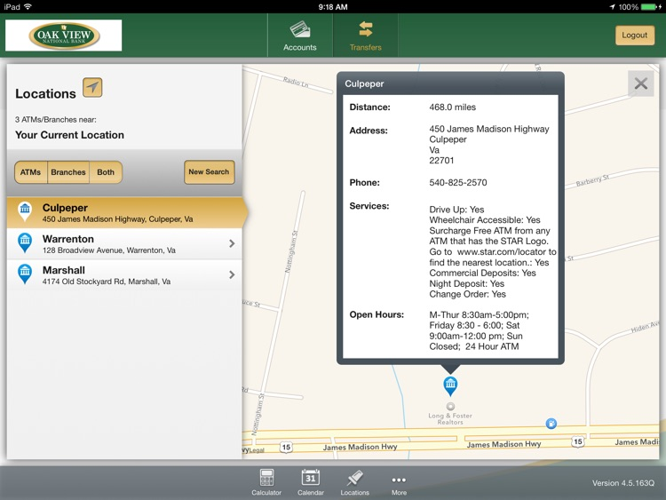 Oak View National Bank for iPad screenshot-4