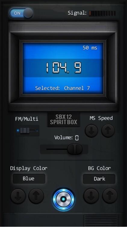 SBX 12 Spirit Box