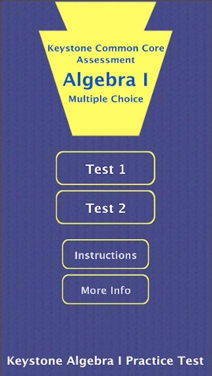 Keystone Algebra I Practice Tests