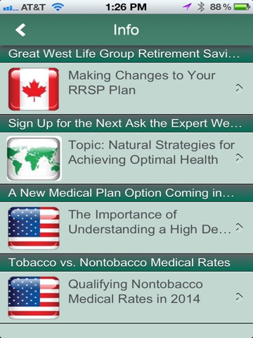 Screenshot of myBenefits at Sage