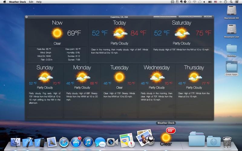 Väder Dock: Väderprognos på PC