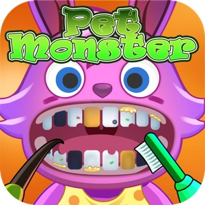 Pet Monster Dentist Kids Game - Rescue Cute Pet Monster's Teeth In A Race Against The Clock!