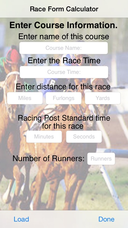 Race Form Calculator