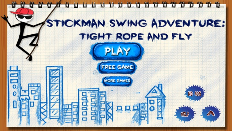 Stick-man Swing Adventure: Tight Rope And Fly