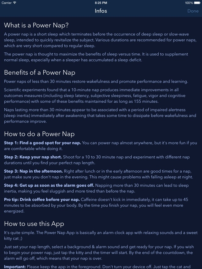 Power Nap App - Best Napping Timer for Naps with Relaxing