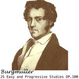 Burgmuller 25 Easy and Progressive Studies for Piano, OP.100
