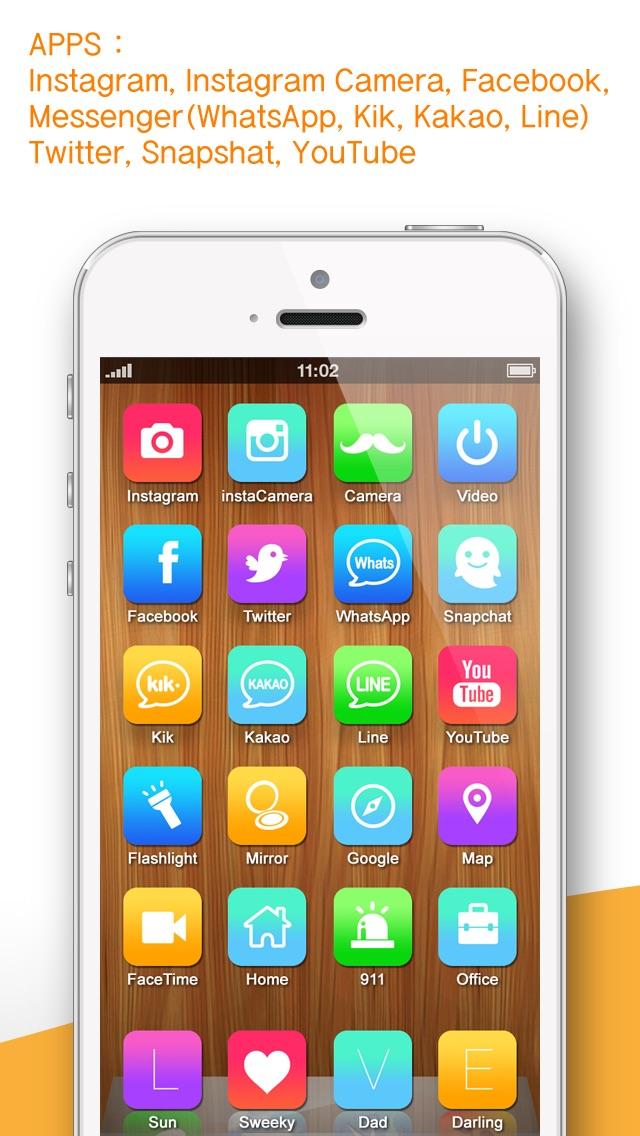 Screenshot for Un appel de contact, message, URL, l'écran d'accueil icône de raccourci (iFavorite Pro: pour Instagram, Snapshat, WhatsApp and iOS7 ) in Lebanon App Store