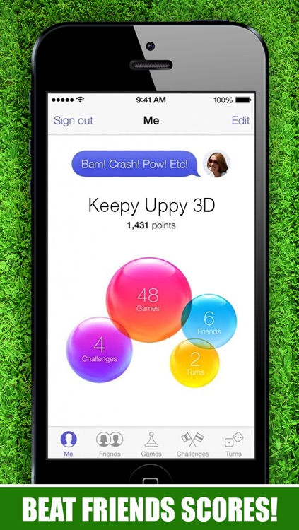 A Keepy Uppy 3D : Kick Ups - The Best Super Soccer Ball Juggling Football Skills Game 2014 screenshot-3