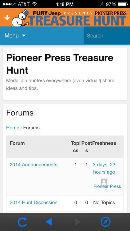Pioneer Press Treasure Hunt screenshot-3