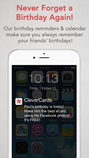 Clevercards greeting cards ecards for facebook on the app store screenshots m4hsunfo