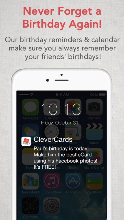 CleverCards: Greeting Cards & eCards for Facebook screenshot-3