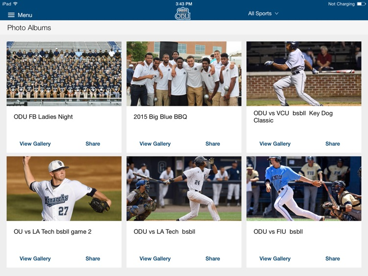 ODU Sports iPad 2015 screenshot-2