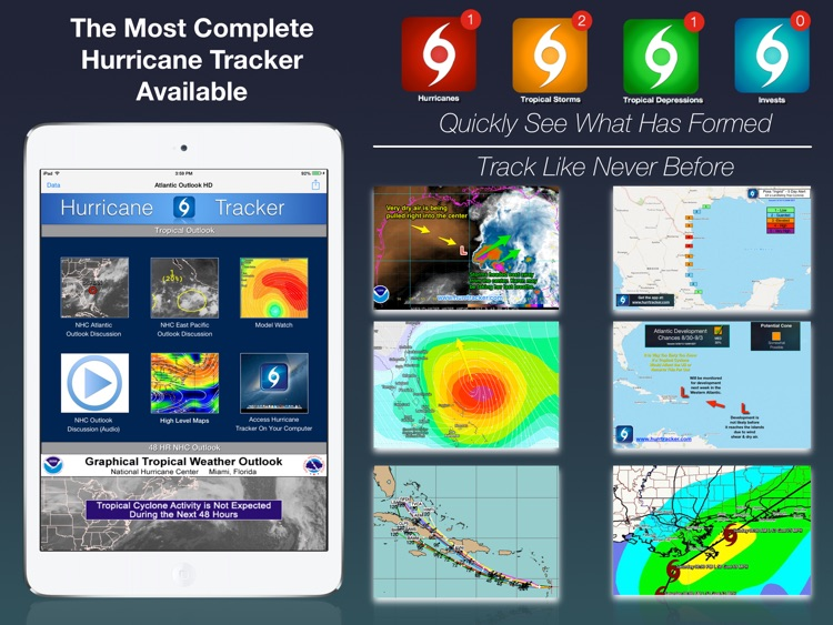 Hurricane Tracker For iPad