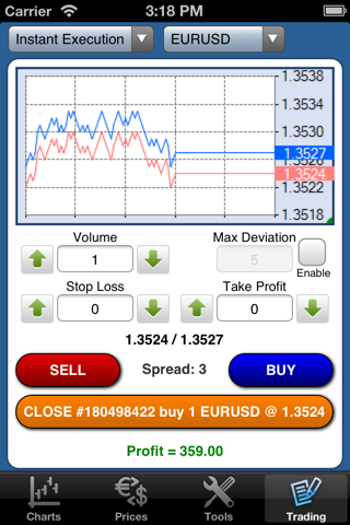 Forex On The Go Lite screenshot 4
