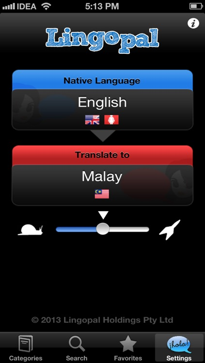 Lingopal Malay LITE - talking phrasebook