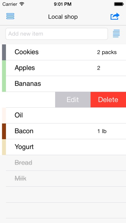 List free - shopping, grocery, sync