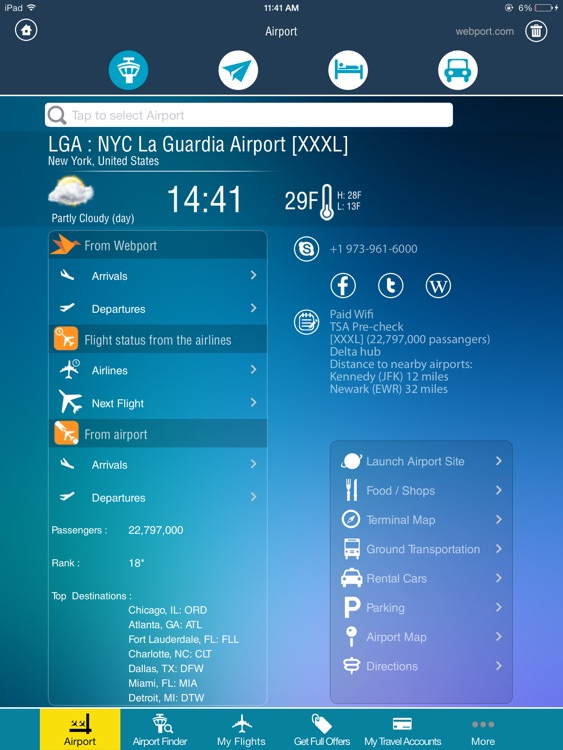 LaGuardia Airport LGA + Flight Tracker Premium HD New York