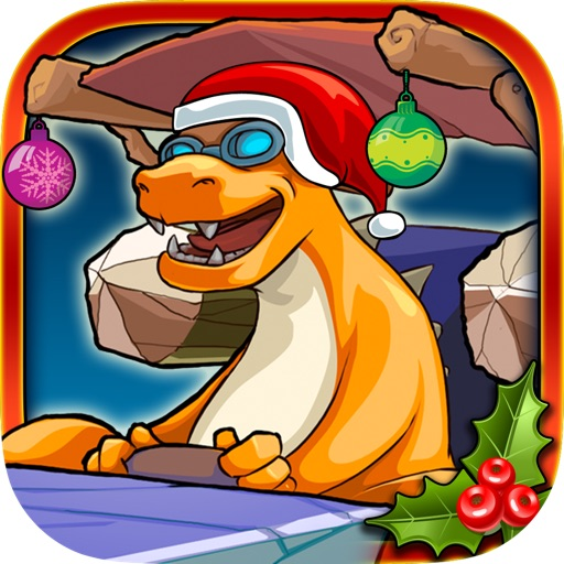 Christmas Dinosaur Race Adventure icon