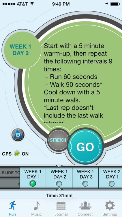 Ease into 5K: run walk interval training program screenshot-1
