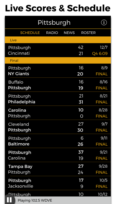 Pittsburgh Football Radio & Live Scores screenshot three